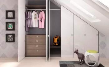 Шкафы-купе в мансарду - как выбрать, виды и варианты, идеи для оформления!
