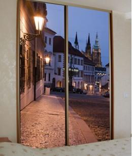 Двери для встроенного шкафа с фотопечатью
