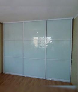 Двери-купе белый глянец