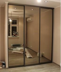 Зеркальные двери-купе для встроенного шкафа