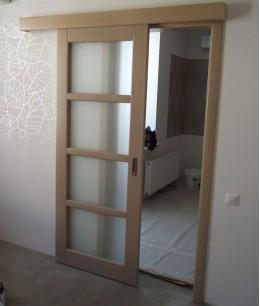 Двери межкомнатные раздвижные из массива