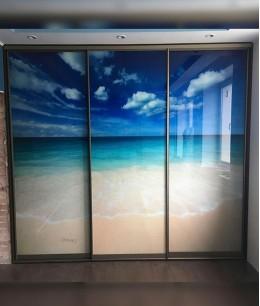 Большие двери с фотопечатью