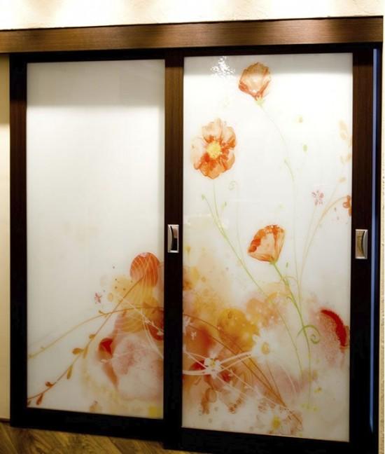 Подвесные двери с фотопечатью