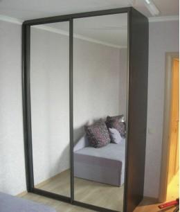 Маленькие зеркальные двери для шкафа-купе