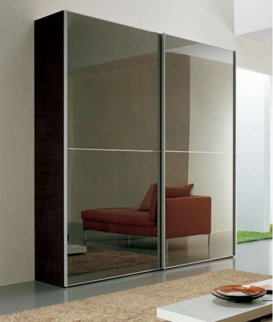 Подвесные зеркальные двери для шкафа купе