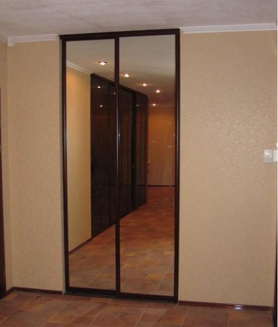 Зеркальные двери для шкафа-купе в кладовку