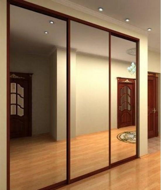 Три (3) зеркальные двери для шкафа купе