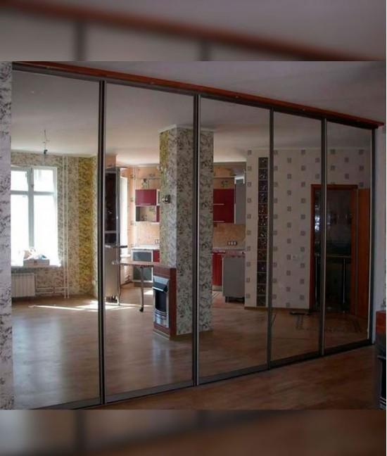 Пять (5) зеркальных дверей для шкафа купе