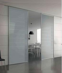 Навесные двери-купе со стеклом