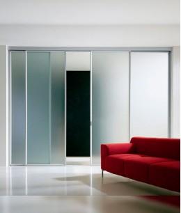 Подвесные раздвижные стеклянные двери