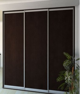 Темные двери для шкафа-купе