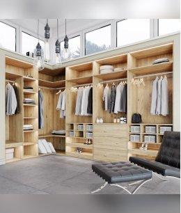 Дизайн угловой гардеробной