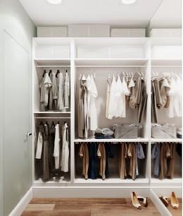 Мини гардеробная в квартире