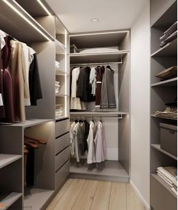 П образные гардеробные комнаты маленькие