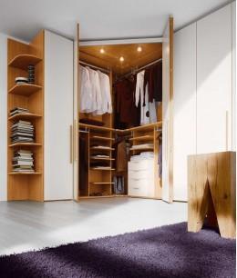 Шкаф гардеробная в спальню угловой