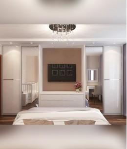 Спальня с двумя гардеробными