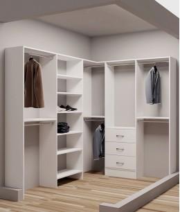 Угловые гардеробные комнаты маленьких размеров