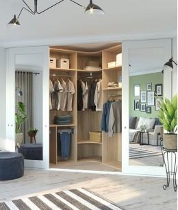 Угловые шкафы гардеробные под заказ