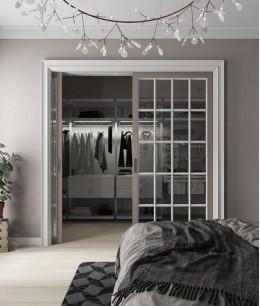 Встроенная гардеробная в комнате