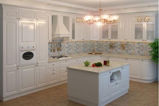 Белая классическая кухня эмаль
