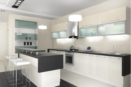 Белая кухня в современном стиле