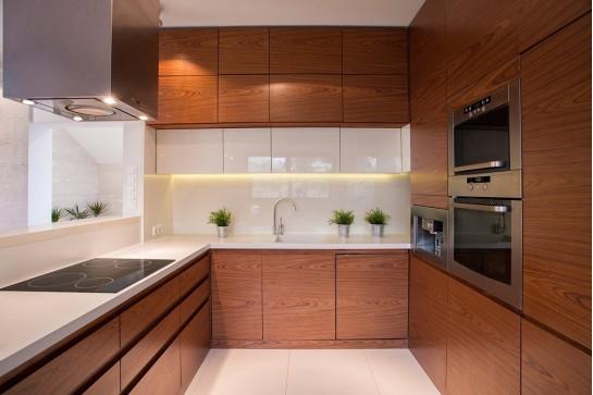 П-образная современная кухня