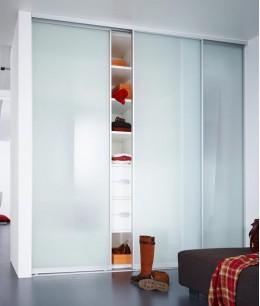 Высокий шкафы купе с матовым стеклом