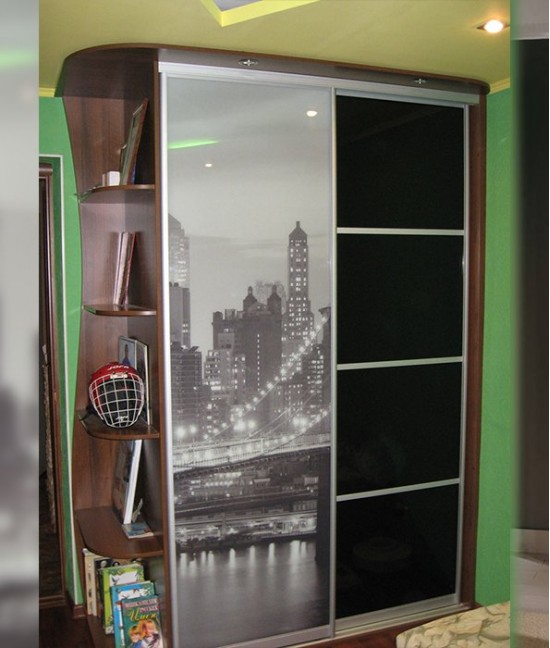 Шкаф купе двухдверный с рисунком