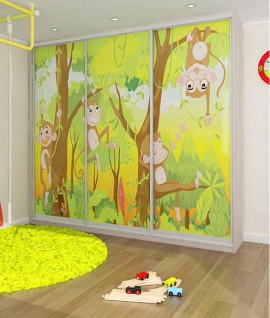 Шкаф купе в детскую комнату 3 х дверный