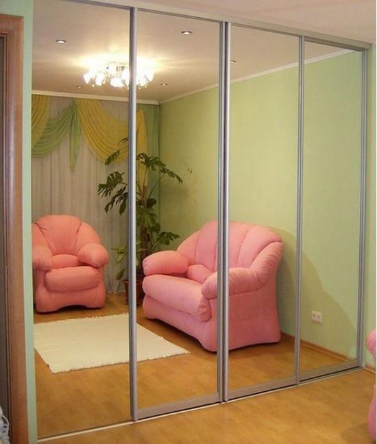 Шкаф купе 3 метра зеркальный