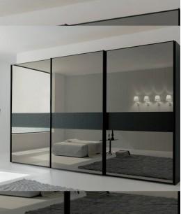 Шкафы купе темное зеркало