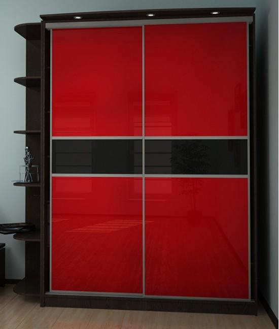 Шкаф купе корпусный красных тонах