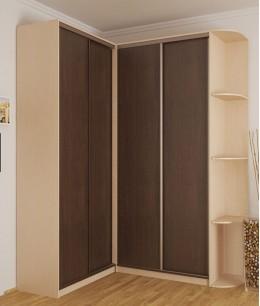 Угловой шкаф купе по индивидуальным размерам из лдсп