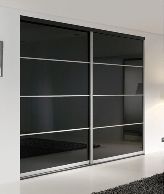 Встроенный шкаф купе черный