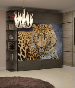 Шкаф купе фотопечать леопард