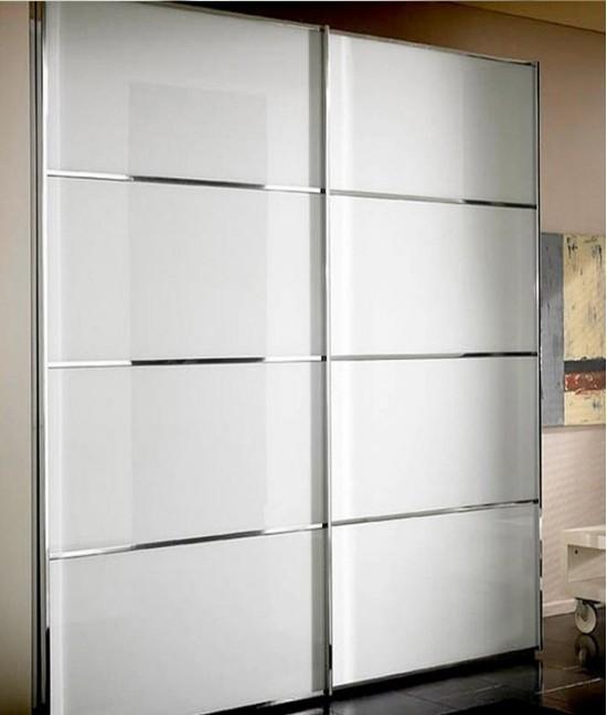 Шкаф купе белый глянец