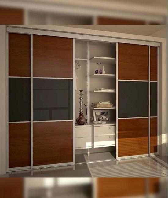 Встроенные шкафы купе раздвижные двери