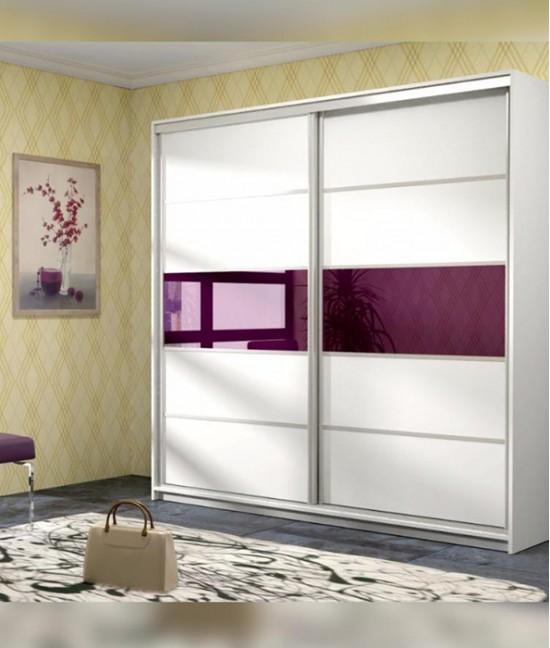 Шкаф купе цветное стекло 2 х дверный