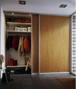 Встроенные гардеробные шкафы купе для прихожих