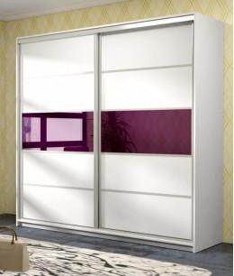 Белый шкаф купе в гостинуюс лакобель