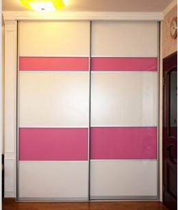 Встроенный шкаф купе в нишу двухдверный оракал