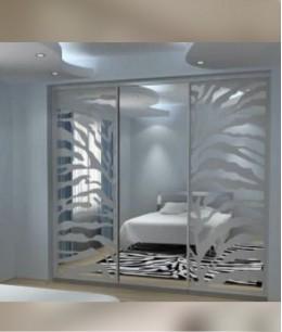 Встроенный шкаф купе до потолка пескоструйный рисунок