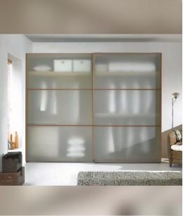 Встроенный шкаф купе до потолка стекло матовое