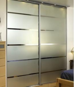 Встроенный шкаф купе до потолка двухдверный