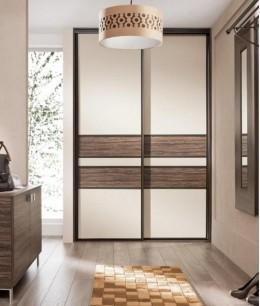 Встроенный шкаф купе до потолка узкий