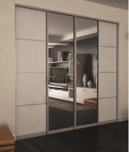Встроенный шкаф купе зеркальные лдсп