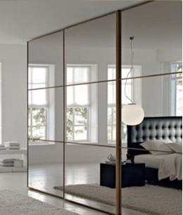 Встроенный шкаф купе зеркальные трехдверный
