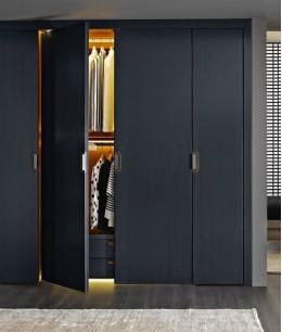 Встроенный шкаф распашной лдсп серый