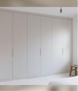 Встроенный шкаф купе в спальню мдф