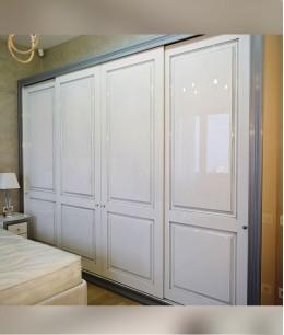 Встроенный шкаф купе в спальню прованс